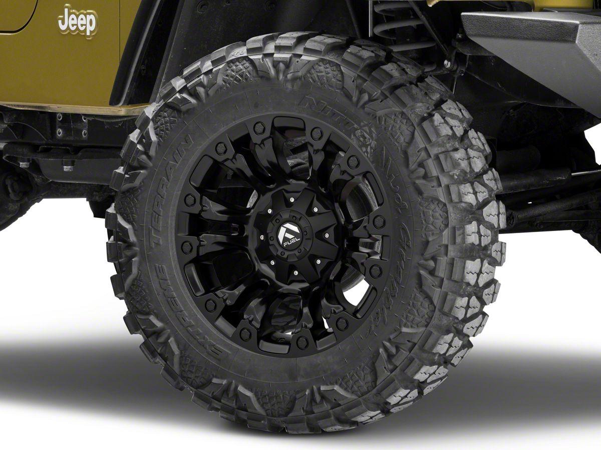 Jeep Wrangler Wheels >> Fuel Wheels Vapor Matte Black Wheel 18x9 97 06 Jeep Wrangler Tj