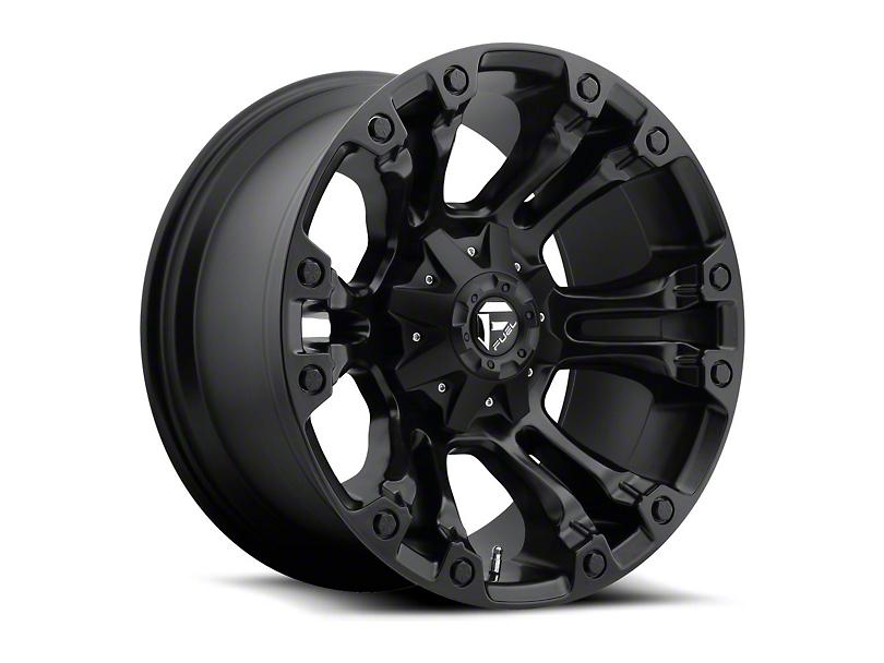Fuel Wheels Vapor Matte Black Wheel - 20x10 (97-06 Jeep Wrangler TJ)