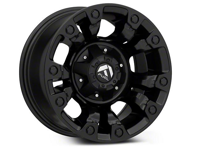 Fuel Wheels Vapor Matte Black Wheel; 15x8 (87-95 Jeep Wrangler YJ)