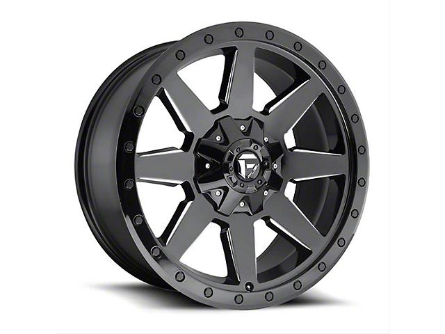 Fuel Wheels Wildcat Gloss Black Milled Wheel - 20x10 (87-06 Jeep Wrangler YJ & TJ)