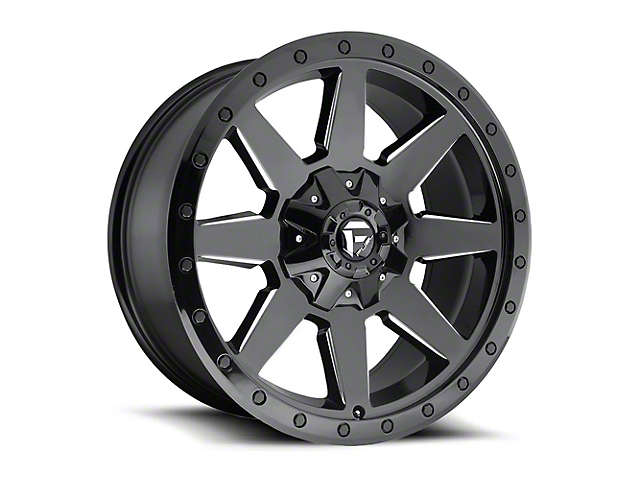 Fuel Wheels Wildcat Gloss Black Milled Wheel - 20x9 (87-06 Jeep Wrangler YJ & TJ)