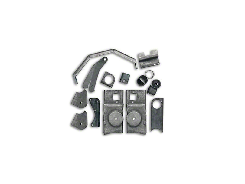 Rubicon Express Front Axle Bracket Kit (07-18 Jeep Wrangler JK)