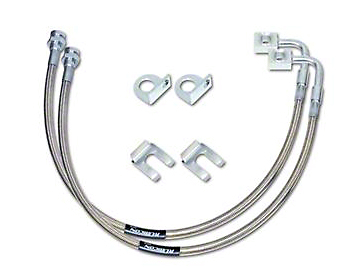 Rubicon Express Front Stainless Steel Brake Lines for 2-4.5 in. Lift (07-18 Jeep Wrangler JK)