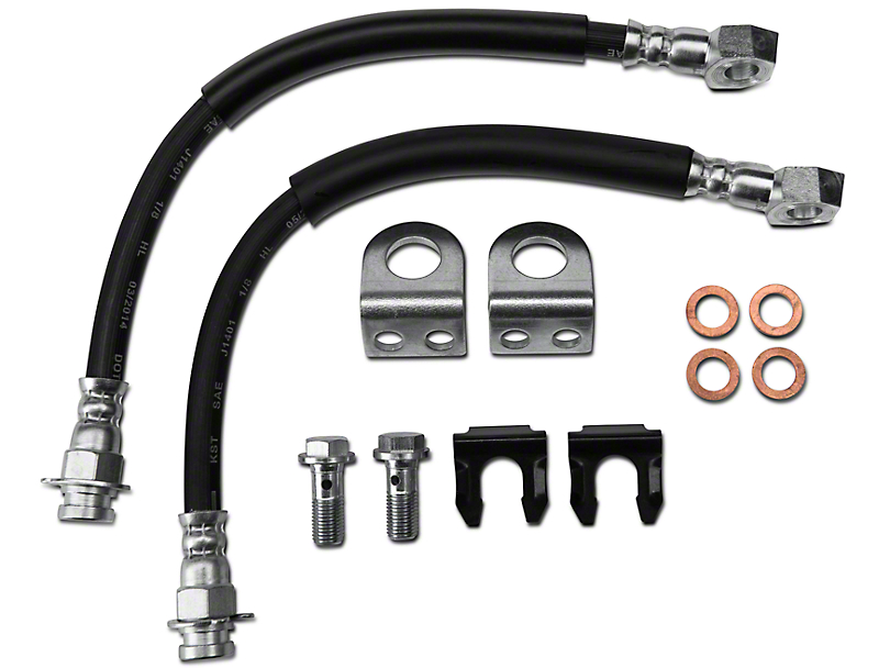 Teraflex Rear Disc Brake Hose Kit (87-01 Jeep Wrangler YJ & TJ)