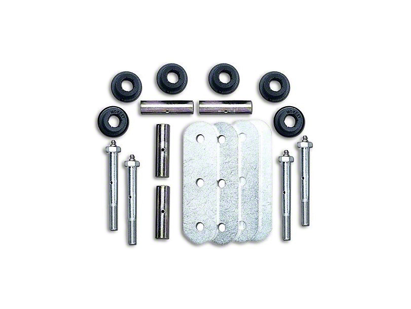 Rubicon Express Greasable Rear Spring Shackle Kit (87-95 Jeep Wrangler YJ)