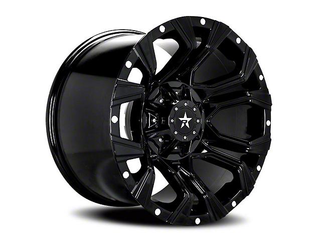 RBP 64R Widow Gloss Black Wheel - 20x12 (87-06 Jeep Wrangler YJ & TJ)
