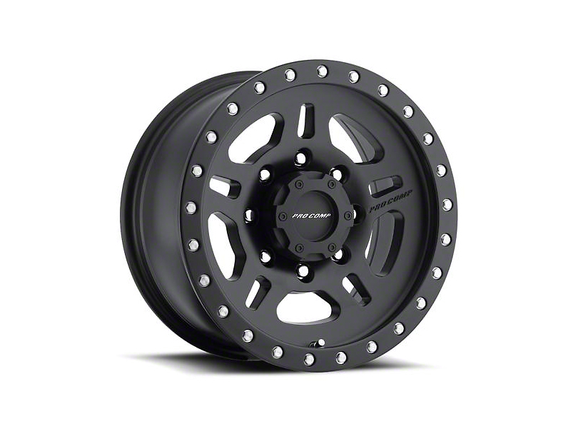 Pro Comp Wheels La Paz Satin Black Wheel - 16x8 (87-95 Jeep Wrangler YJ)
