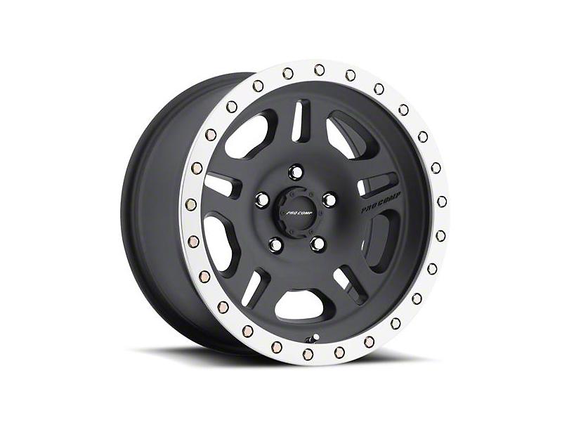 Pro Comp Wheels La Paz Satin Black Machined Wheel; 16x8 (97-06 Jeep Wrangler TJ)