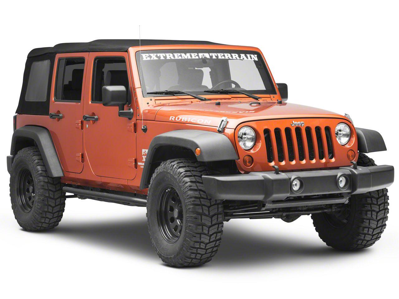 Pro Comp Wheels Series 51 Push Thru Black Center Cap (87-19 Jeep Wrangler YJ, TJ, JK & JL)
