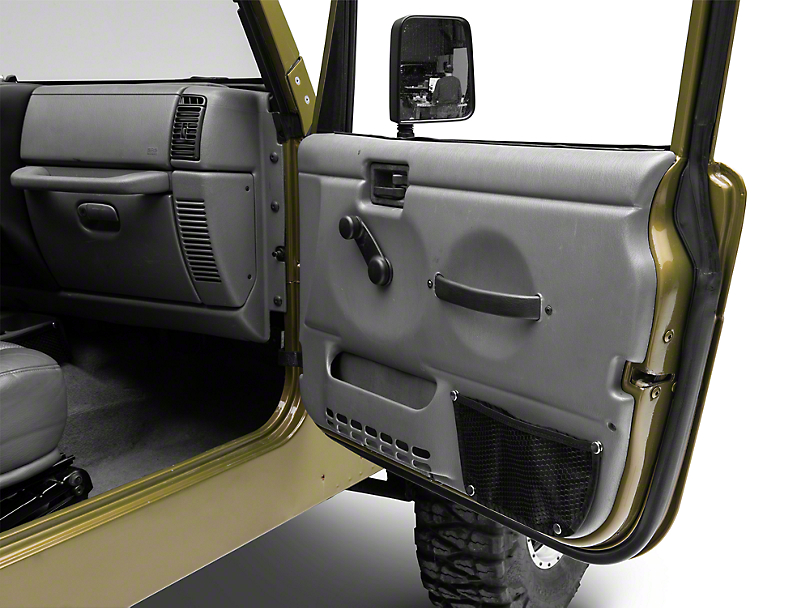 Rugged Ridge Door Box & Console Trail Net Kit (97-06 Jeep Wrangler TJ)