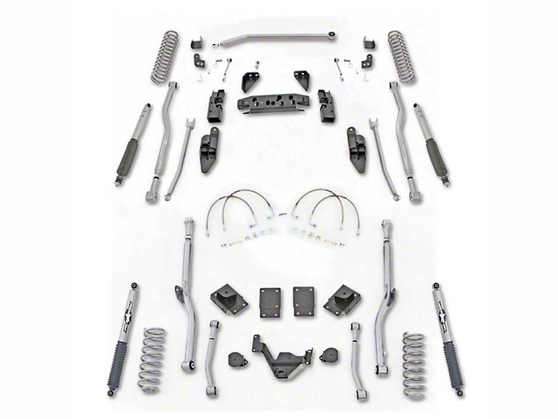 Rubicon Express 3.50-Inch Extreme-Duty 4-Link Long Arm Lift Kit (07-18 Jeep Wrangler JK 2 Door)