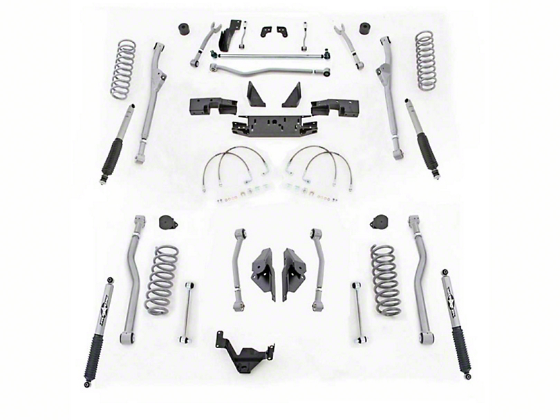 Rubicon Express 4.50-Inch Extreme-Duty 4-Link Front/Rear Radius Long Arm Lift Kit (07-18 Jeep Wrangler JK 2 Door)