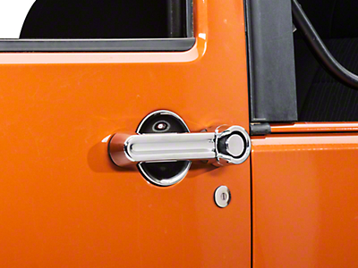 Rugged Ridge 6 Piece Door Handle Cover & Recess Guard Kit - Chrome (07-18 Wrangler JK 2 Door)