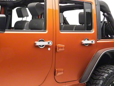 Rugged Ridge 10 Piece Door Handle Cover & Recess Guard Kit - Chrome (07-18 Jeep Wrangler JK 4 Door)