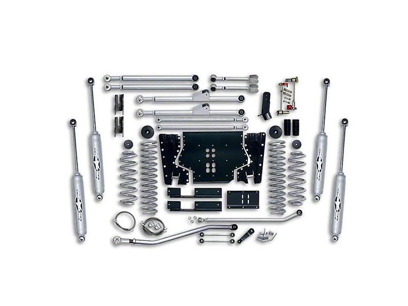 Rubicon Express 3.50-Inch Extreme-Duty Long Arm Lift Kit with Rear Track Bar (03-06 Jeep Wrangler TJ, Excluding Unlimited)