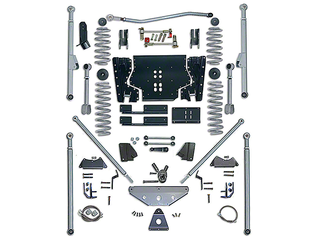 Rubicon Express 5.5 in. Extreme-Duty Long Arm Lift Kit w/ Rear Tri-Link (03-06 Jeep Wrangler TJ, Excluding Unlimited)