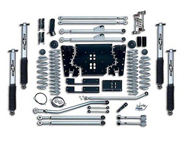 Rubicon Express 5.50-Inch Extreme-Duty Long Arm Lift Kit with Rear Track Bar (04-06 Jeep Wrangler TJ Unlimited)