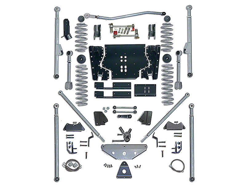 Rubicon Express 5.50-Inch Extreme-Duty Long Arm Lift Kit with Rear Tri-Link (04-06 Jeep Wrangler TJ Unlimited)