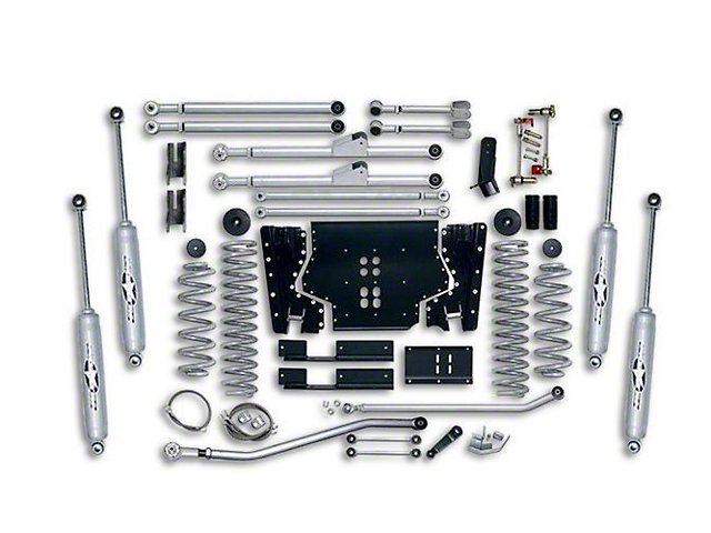 Rubicon Express 4.50-Inch Extreme-Duty Long Arm Lift Kit with Rear Track Bar (97-02 Jeep Wrangler TJ)