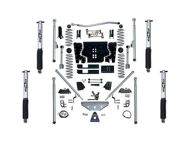 Rubicon Express 5.5 in. Extreme-Duty Long Arm Lift Kit w/ Rear Tri-Link (97-02 Jeep Wrangler TJ)