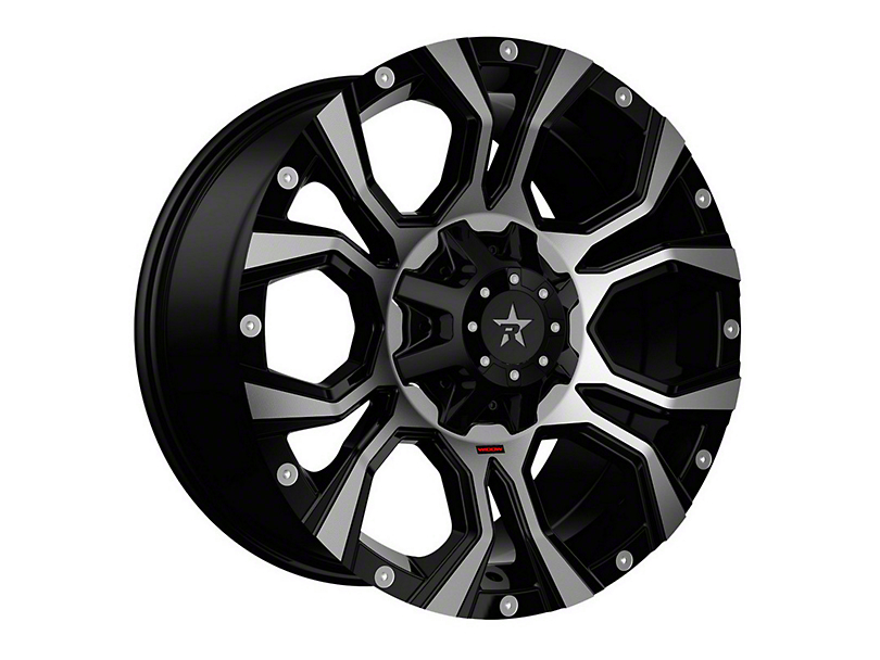 RBP 64R Widow Black Machined Wheel - 18x9 (97-06 Jeep Wrangler TJ)