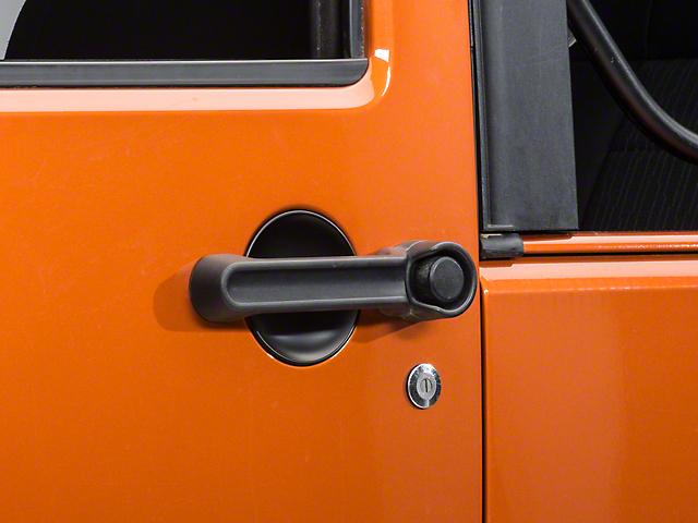 Rugged Ridge Door Handle Recess Guards; Black (07-18 Jeep Wrangler JK 2 Door)