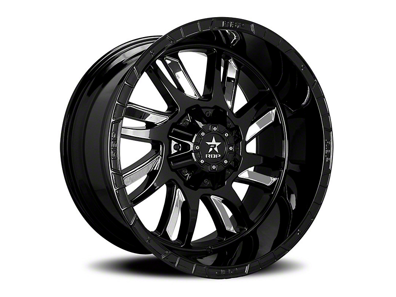 RBP 69R Swat Black w/ Chrome Inserts Wheel - 20x10 (97-06 Jeep Wrangler TJ)