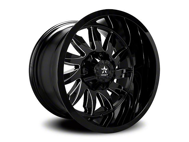 RBP 74R Silencer Gloss Black w/ Machined Grooves Wheel - 20x10 (97-06 Jeep Wrangler TJ)