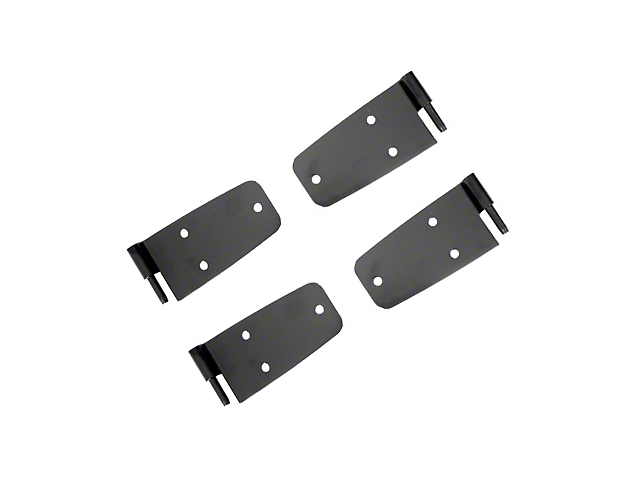 Rugged Ridge Door Hinge Set Black Powder Coat w/ Hardtop (87-93 Jeep Wrangler YJ w/Full Doors)