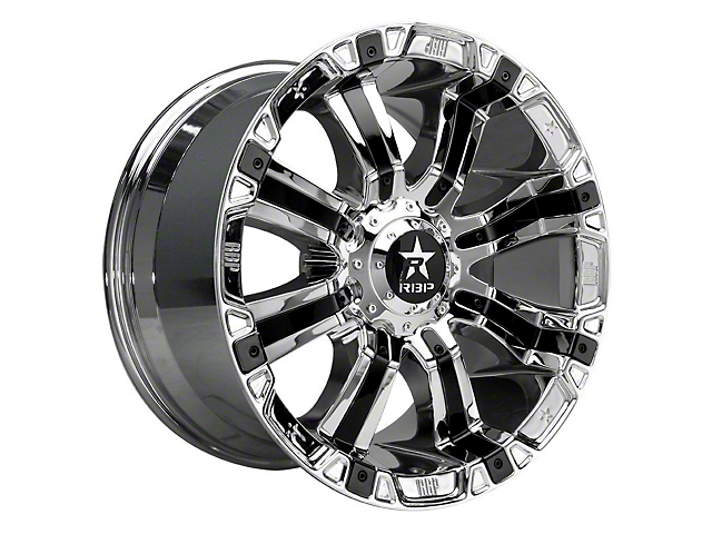 RBP 94R Chrome w/ Black Inserts Wheel - 18x10 (97-06 Jeep Wrangler TJ)