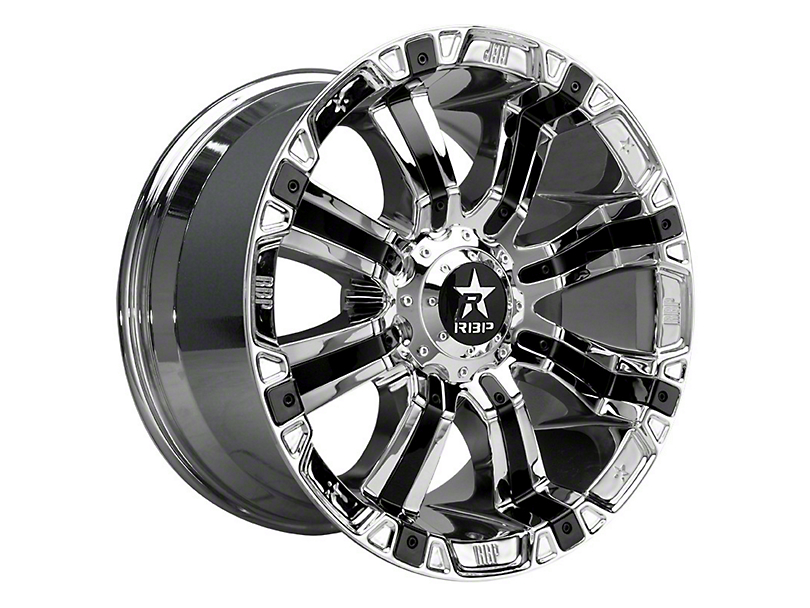 RBP 94R Chrome w/ Black Inserts Wheel - 20x10 (97-06 Jeep Wrangler TJ)