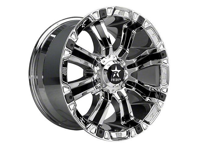 RBP 94R Chrome w/ Black Inserts Wheel - 20x9 (97-06 Jeep Wrangler TJ)