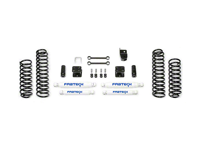 Fabtech 3 in. Sport Lift System w/ Shocks (07-18 Jeep Wrangler JK 4 Door)