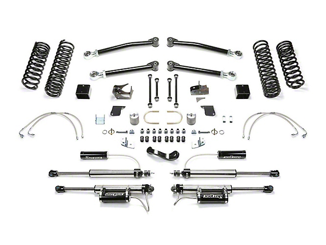 Fabtech 5-Inch Trail Long Travel Lift Kit with Shocks (07-18 Jeep Wrangler JK 4 Door)