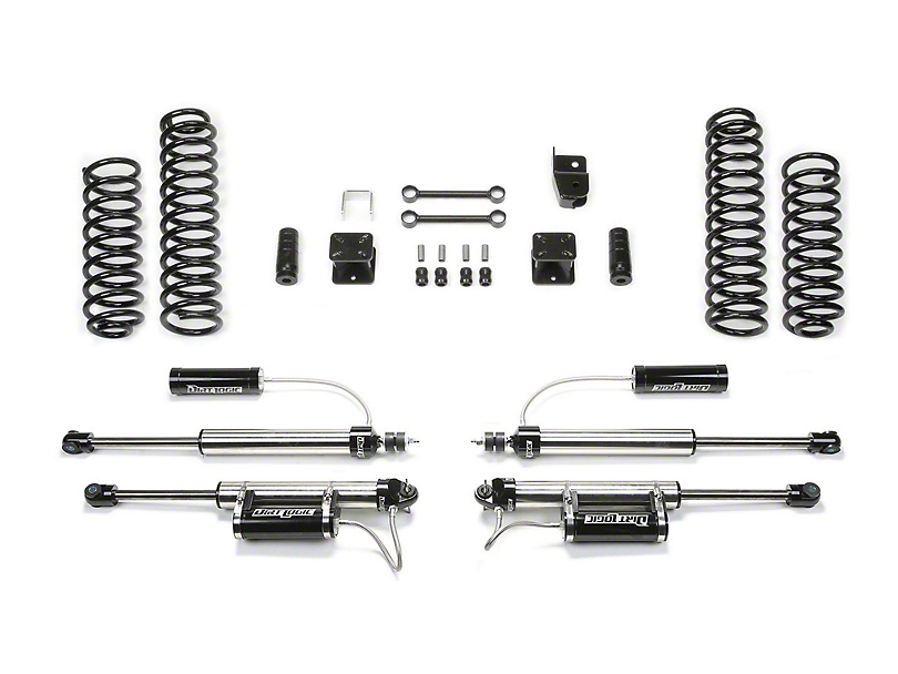Fabtech 3 in. Sport Lift System w/ Shocks (07-18 Jeep Wrangler JK 2 Door)