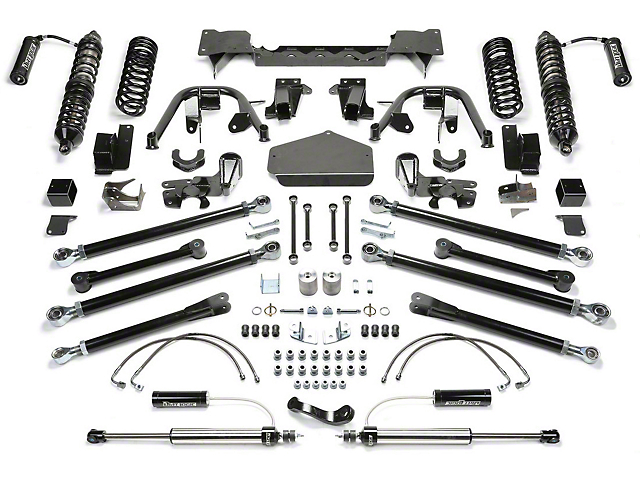 Fabtech 5-Inch Crawler Coil-Over Lift Kit with Dirt Logic Shocks (07-18 Jeep Wrangler JK 2 Door)