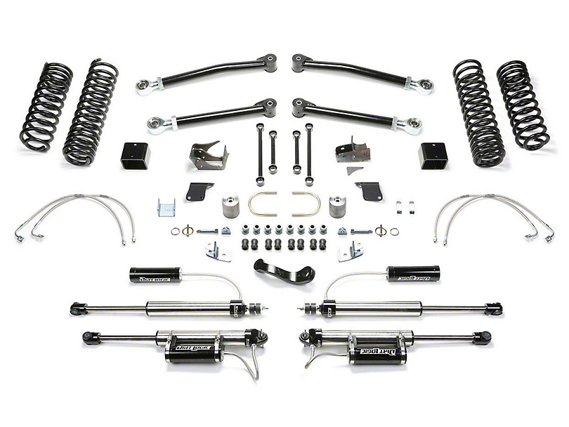 Fabtech 5-Inch Trail Long Travel Lift Kit with Shocks (07-18 Jeep Wrangler JK 2 Door)