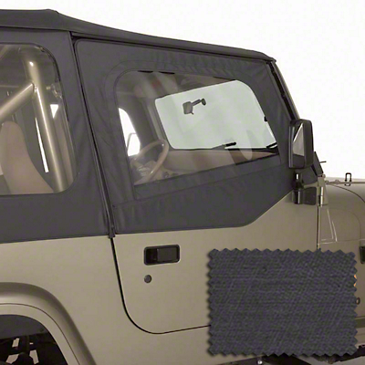 Rugged Ridge Replacement Door Skins - Black Denim (88-95 Jeep Wrangler YJ)