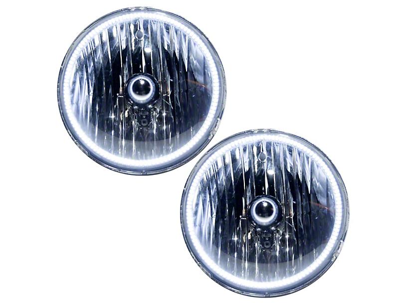 Oracle OE Style Headlights with LED Halos; Chrome (07-18 Jeep Wrangler JK)