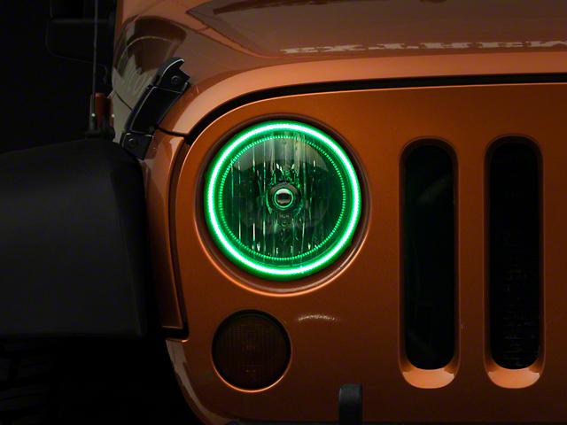 Oracle LED Waterproof Headlight Halo Conversion Kit - Green (07-18 Jeep Wrangler JK)