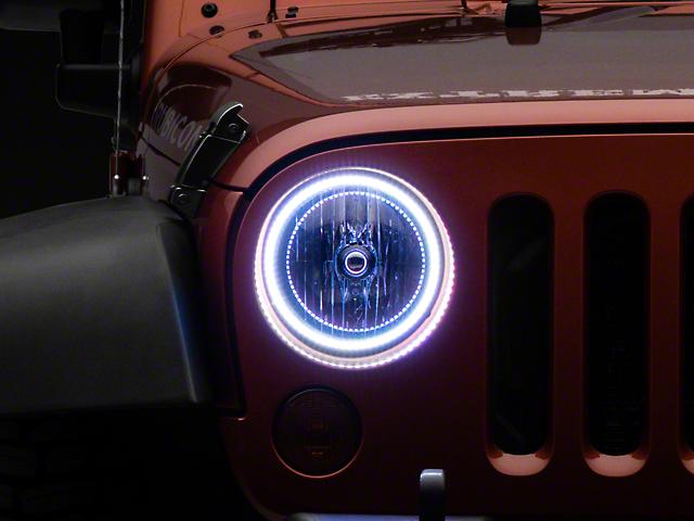 Oracle Waterproof LED Halo Headlight Conversion Kit; ColorSHIFT (07-18 Jeep Wrangler JK)