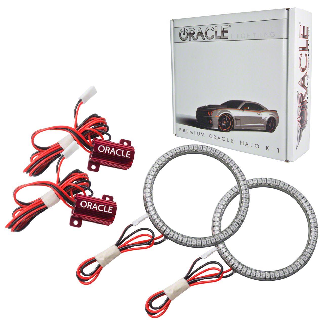 Oracle LED Waterproof Fog Light Halo Conversion Kit - Green (07-18 Jeep Wrangler JK)
