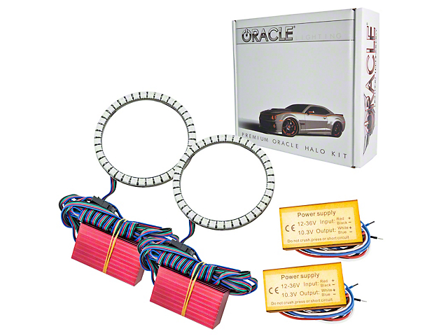 Oracle LED Waterproof Fog Light Halo Conversion Kit - ColorSHIFT (07-18 Jeep Wrangler JK)