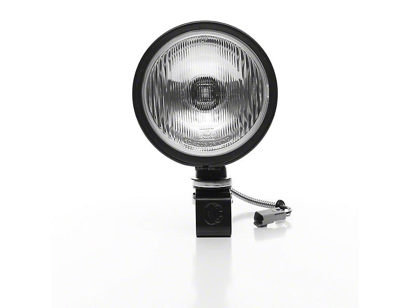 KC HiLiTES 6 in. Black Daylighter Round Halogen Light - Spread Beam
