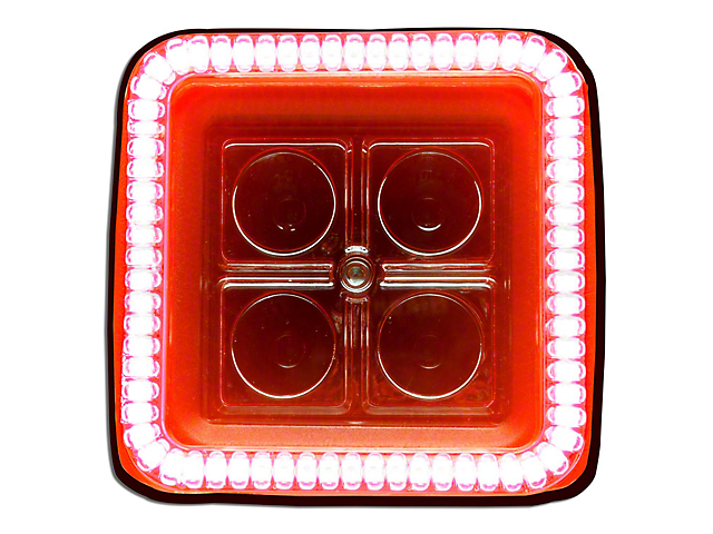 Oracle 3-Inch Square Halo for Cube/Square Lights; Amber