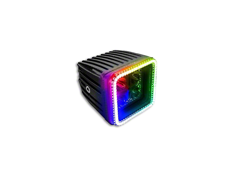 Oracle 3 in. Square Halo for Cube/Square Lights - ColorSHIFT