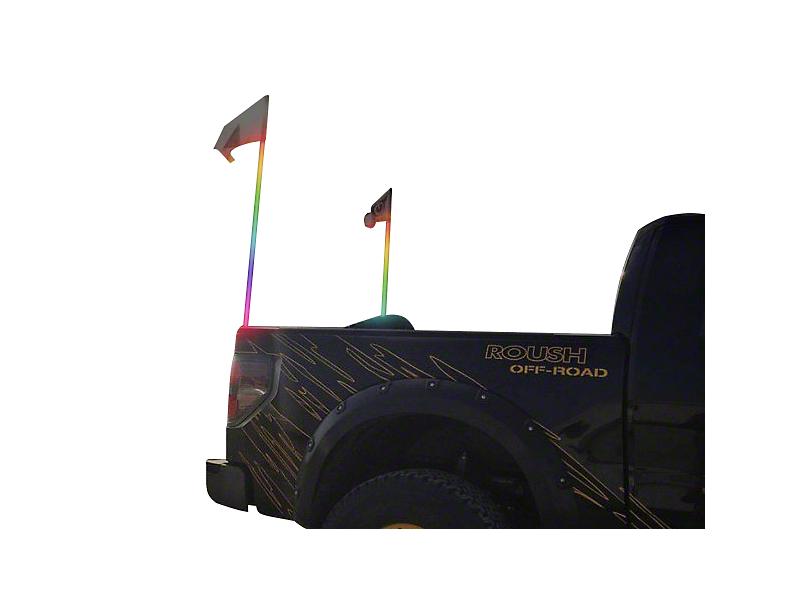 Oracle Off-Road 4 ft. LED Whip - ColorSHIFT (87-20 Jeep Wrangler YJ, TJ, JK & JL)