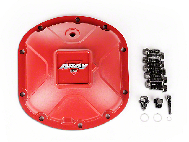 Alloy USA Dana 30 Aluminum Differential Cover - Red (03-18 Jeep Wrangler TJ & JK, Excluding Rubicon)