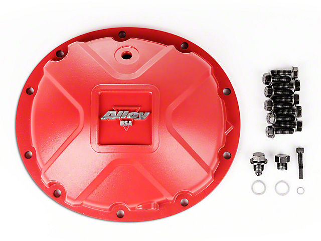 Alloy USA Dana 35 Aluminum Differential Cover; Red (87-06 Jeep Wrangler YJ & TJ)