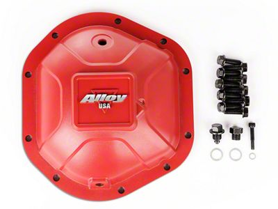 Alloy USA Dana 44 Aluminum Differential Cover - Red (87-06 Jeep Wrangler YJ & TJ)